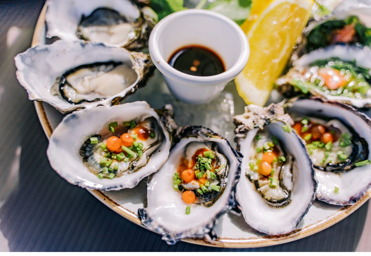 Fresh oysters from Latitude 30, Coffs Harbour.